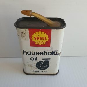 Shell Oil Tin - Maitland Antique Shop - Rustic Antiques