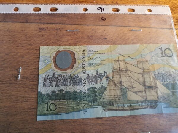 Plastic ten dollar note - Maitland Antique Shop - Rustic Antiques