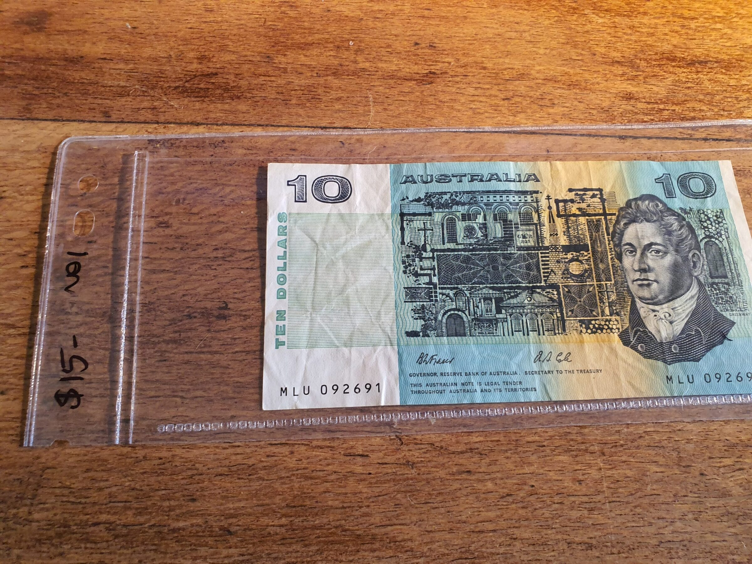 Paper ten dollar note - Maitland Antique Shop - Rustic Antiques