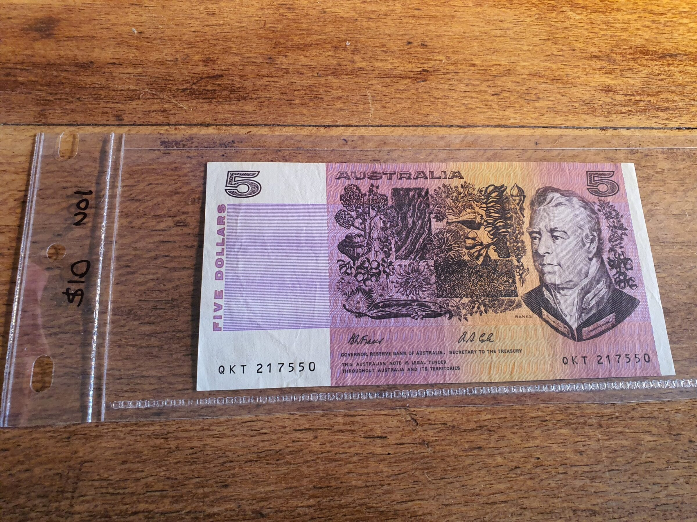 Paper five dollar note - Maitland Antique Shop - Rustic Antiques